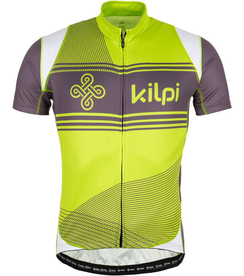 KILPI Cyklistický dres VELOCITY EM0047KILGN Zelená