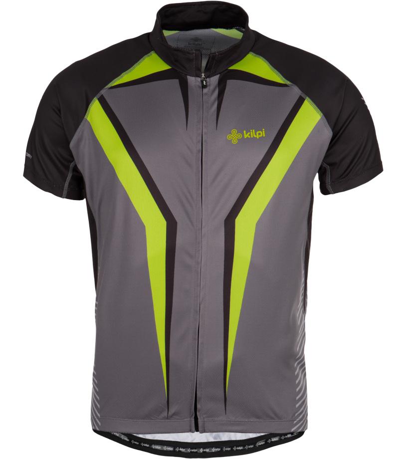 KILPI Cyklistický dres CHAMPION EM0053KIDGY Tmavě šedá