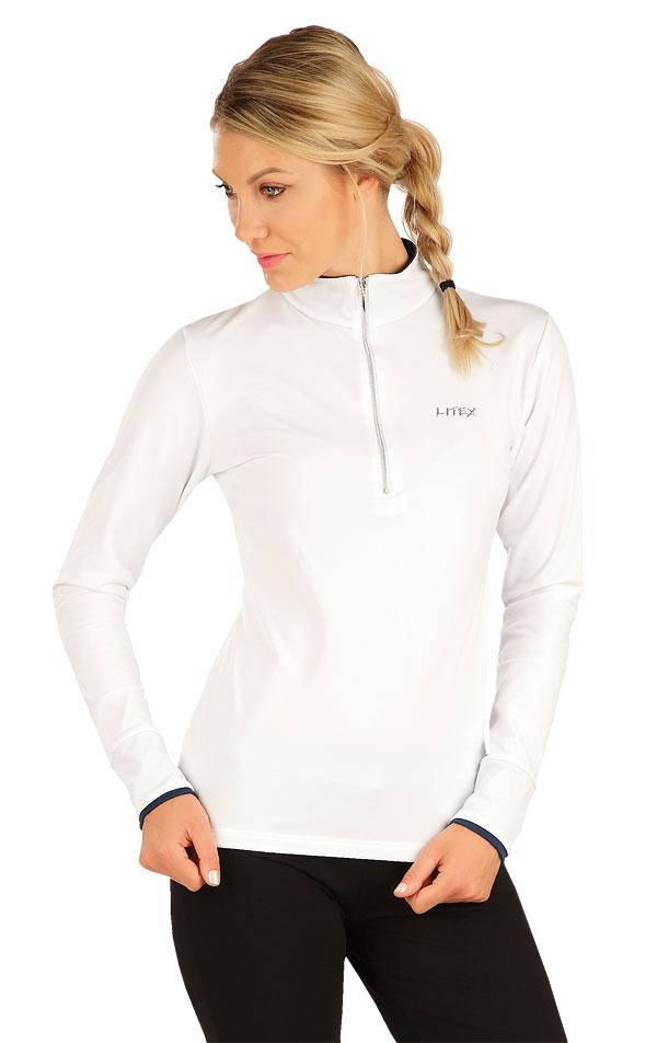LITEX 7A440 Tričko dámské s dlouhým rukávem Bílá S
