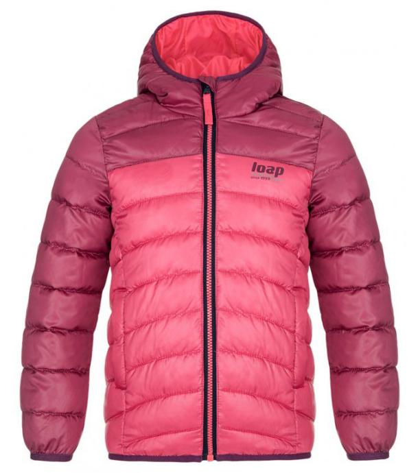 LOAP INBELO Dětská zimní bunda CLK2050J43J růžová 140