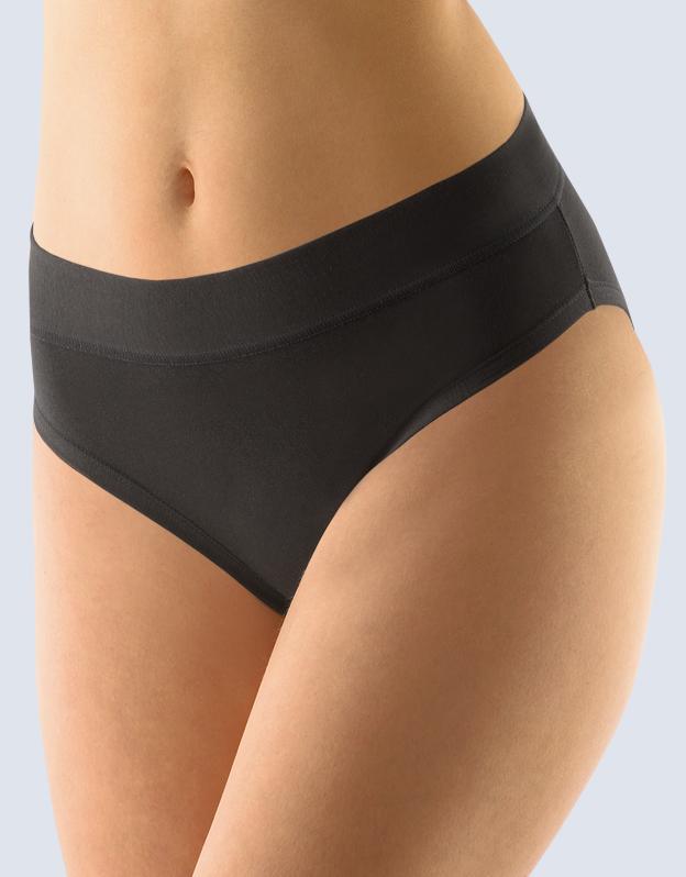 GINA Dámské klasické kalhotky 10173-MxC černá 38-40