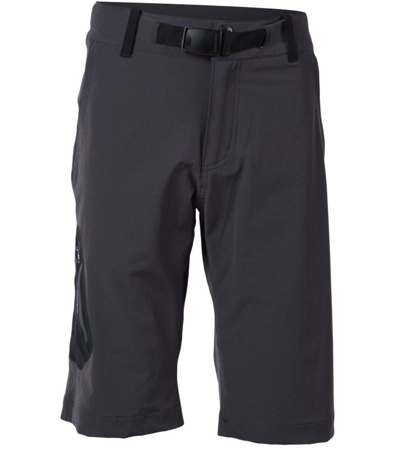 NORTHFINDER YUSUF Pánské šortky BE-3180OR325 šedá-stříbrná