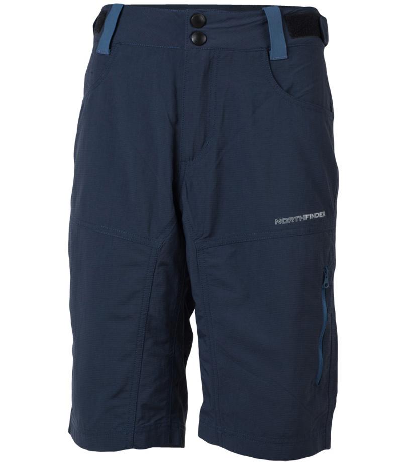 NORTHFINDER FREDDY Pánské šortky BE-3185OR298 tmavě modrá