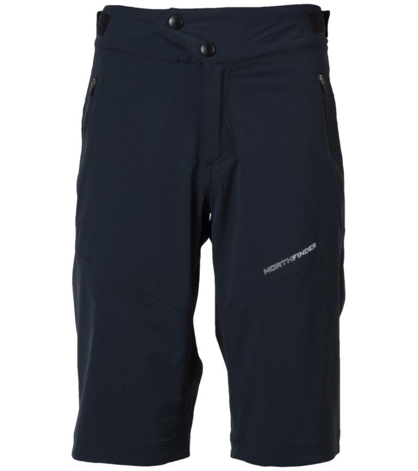 NORTHFINDER JAGGER Pánské šortky BE-3190SII269 černá M