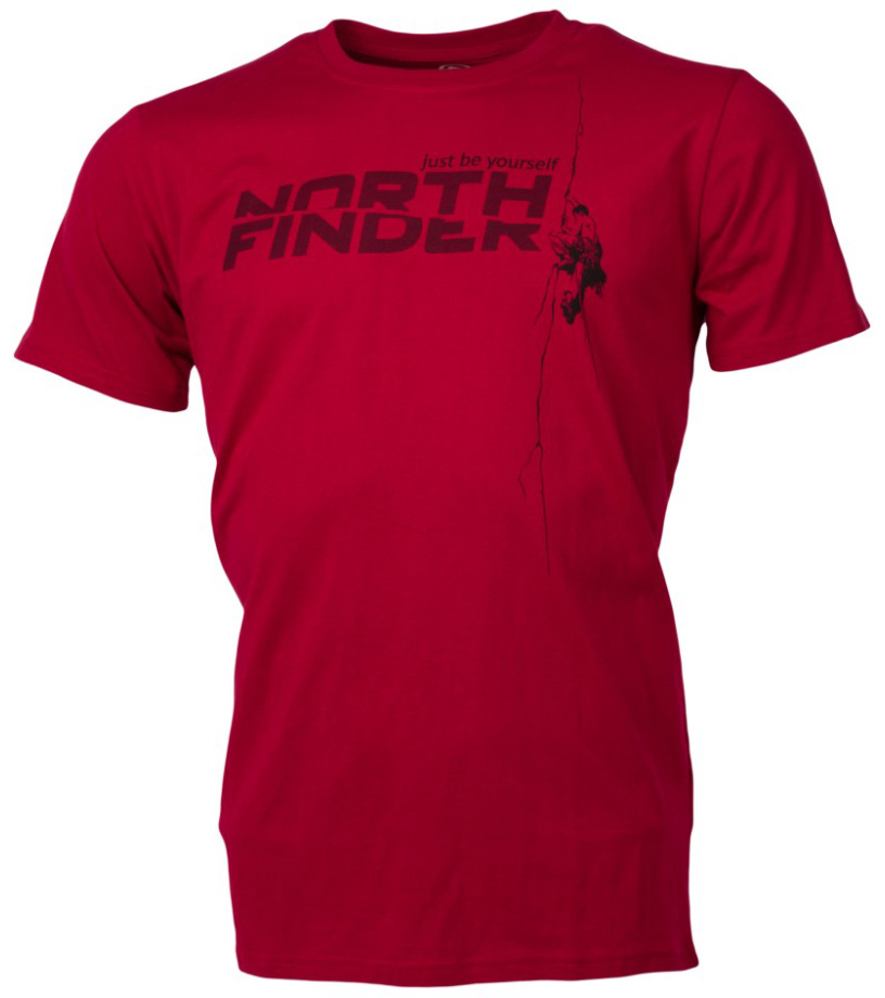 NORTHFINDER DAMARI Pánské triko TR-31791OR307 tmavě červená