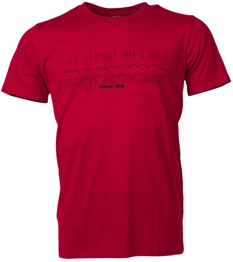 NORTHFINDER JEFFREY Pánské triko TR-3275OR307 tmavě červená