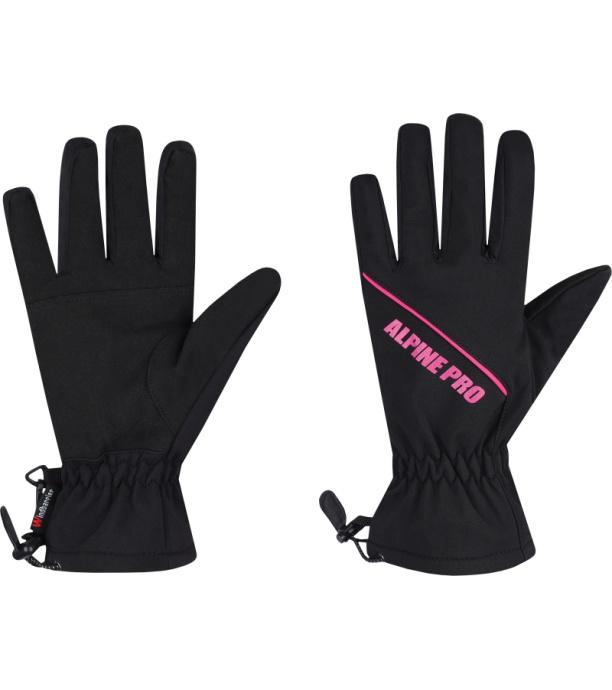 ALPINE PRO EINE Dámské softshell rukavice 45037990 černá