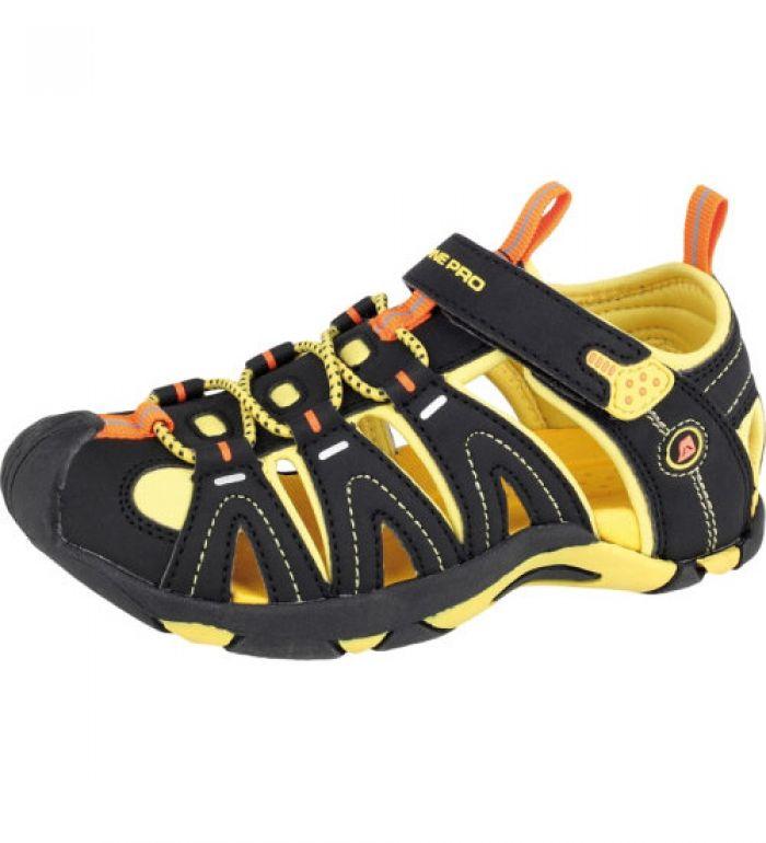 ALPINE PRO KARORA Dětská letní obuv KBTE106209 blazing yellow 35