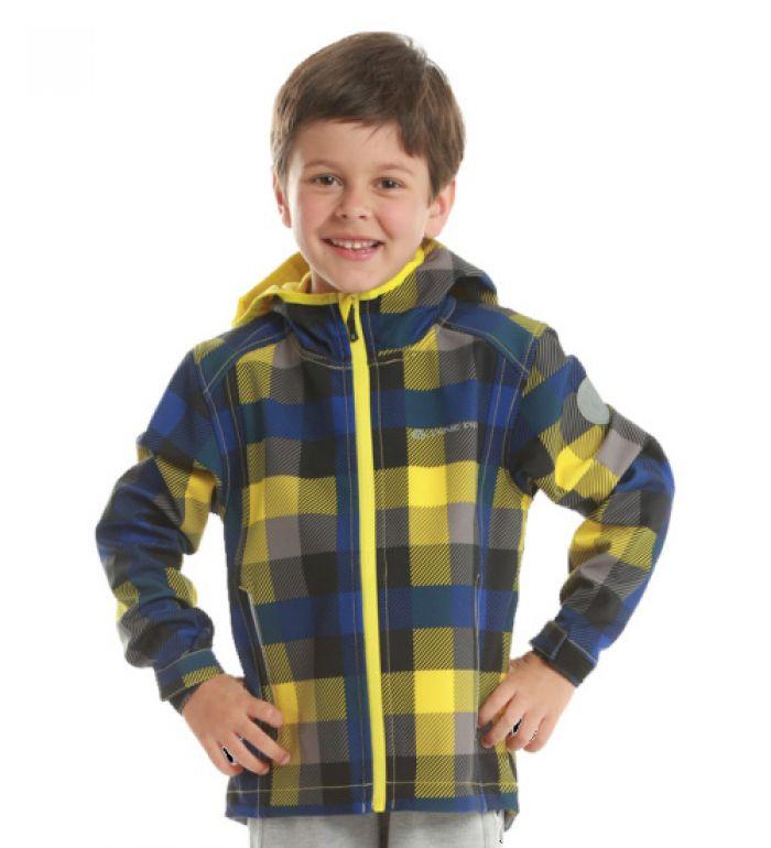 ALPINE PRO ALANO Dětská bunda KJCE039209 blazing yellow 116-122
