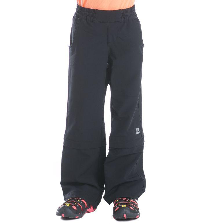 ALPINE PRO Pantaleo Dětské softshell kalhoty KPAE003990 černá 104-110