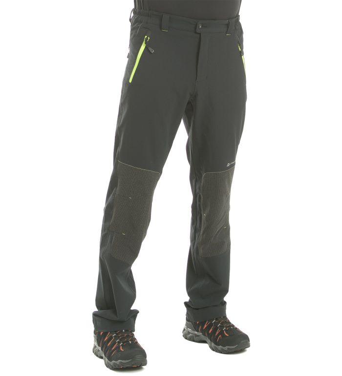 ALPINE PRO Pop Pánské softshell kalhoty MPAE089990 černá 46