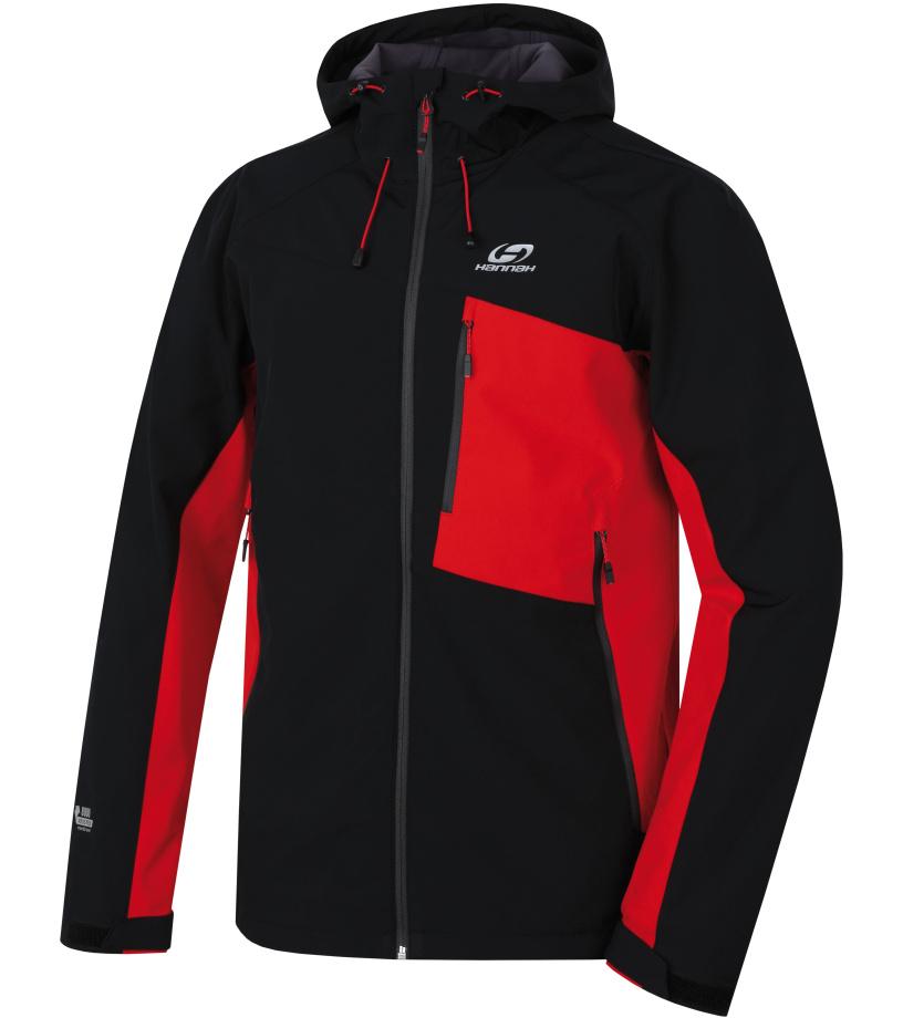 HANNAH Shafer Lite Pánská softshellová bunda 118HH0015SJ01 Anthracite/racing red
