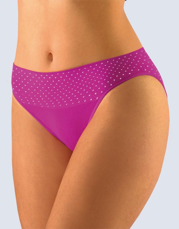 GINA Dámské kalhotky klasické s úzkým bokem 00032-MFEMxB fialová S/M