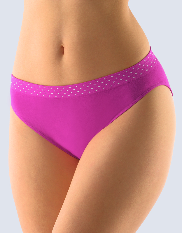 GINA Dámské kalhotky klasické s úzkým bokem 00033-MFEMxB fialová S/M