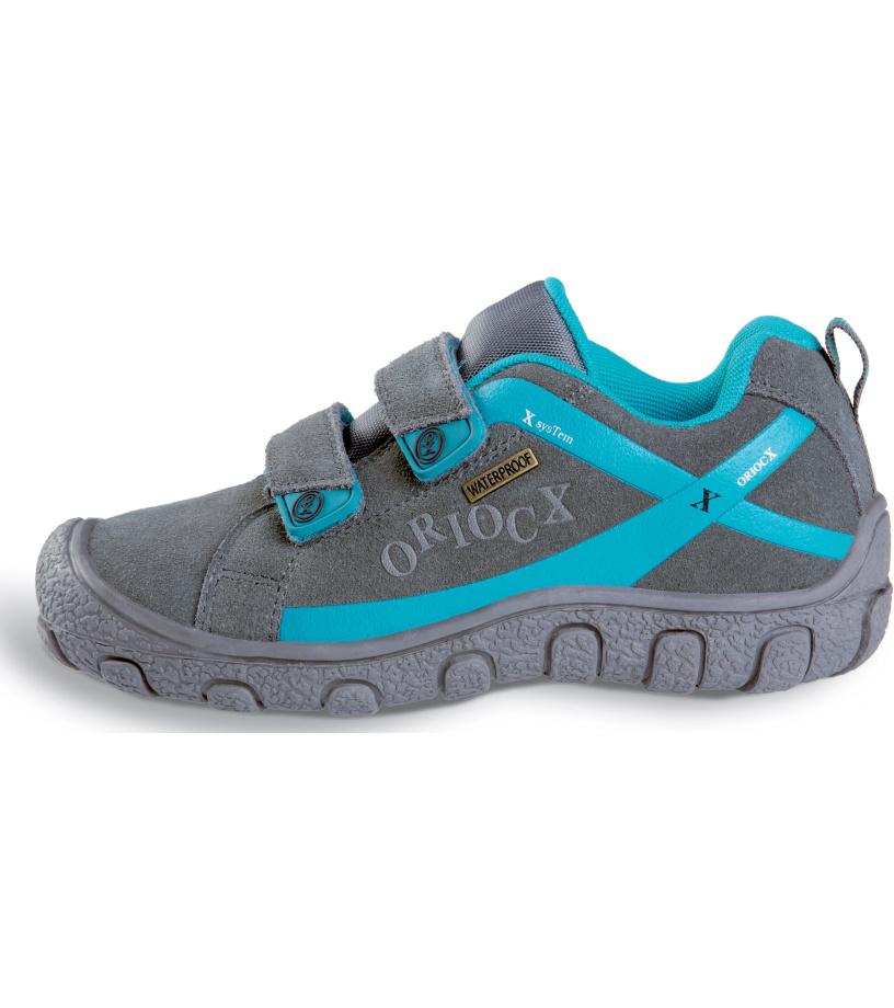 ORIOCX TRICIO - low Dětská trekkingová obuv 0022ORIOGRY Šedá 25