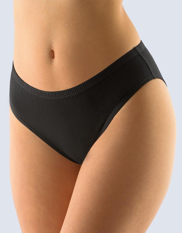 GINA Dámské kalhotky klasické 10146-MxC černá 38-40