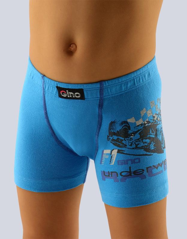 GINA Chlapecké boxerky s delší nohavičkou 64003-DxA dunaj
