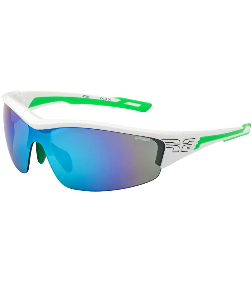 R2 WHEELLER Sportovní sluneční brýle AT038F bílá