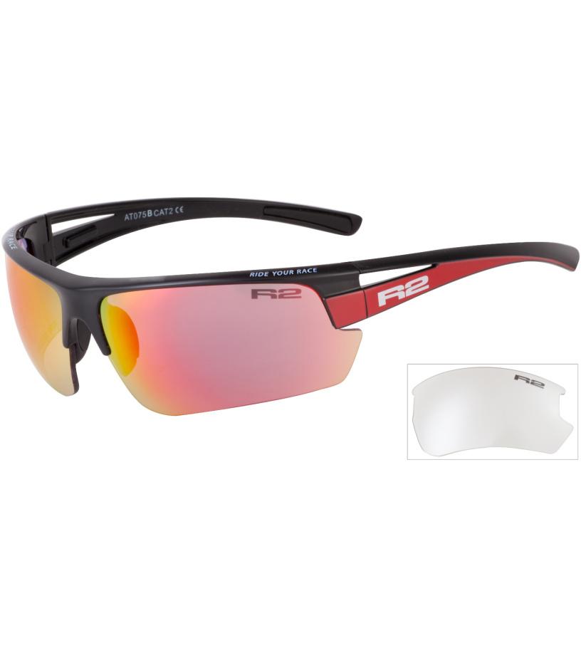 R2 SKINNER Sportovní sluneční brýle AT075B černá