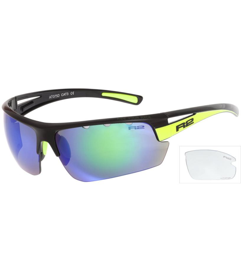 R2 SKINNER Sportovní sluneční brýle AT075D černá