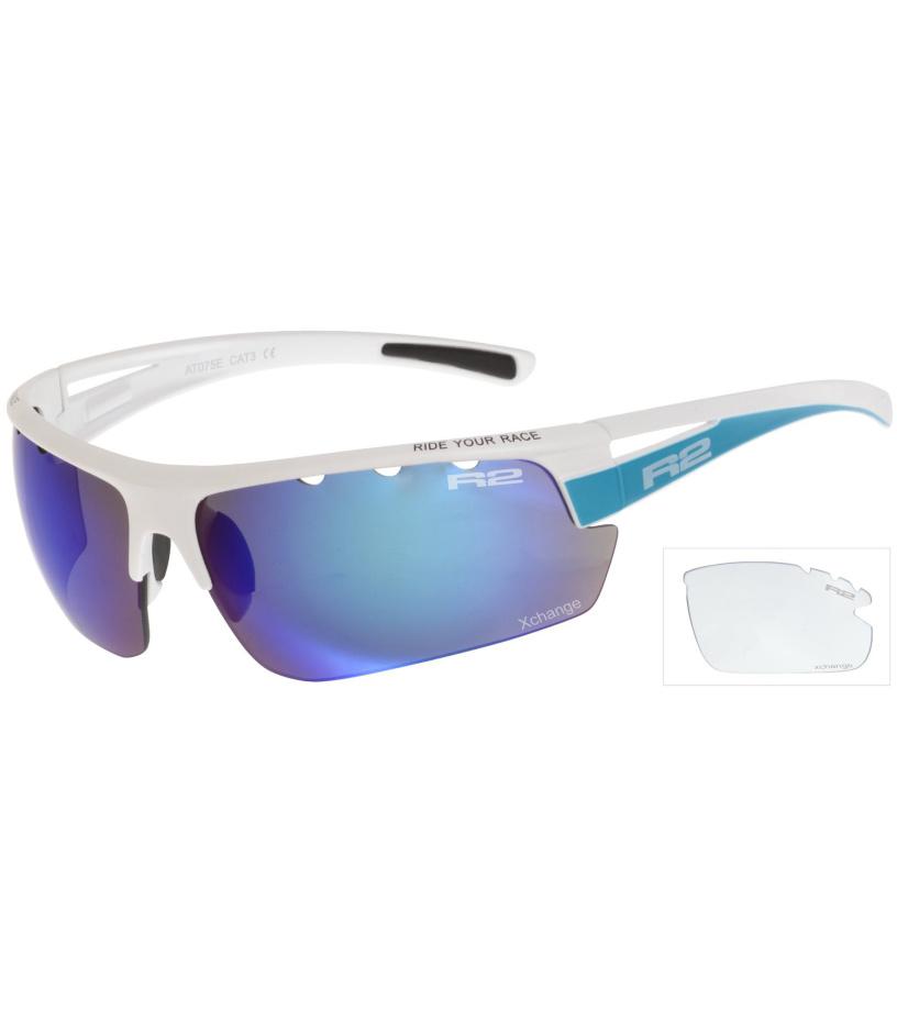 R2 SKINNER Sportovní sluneční brýle AT075E bílá