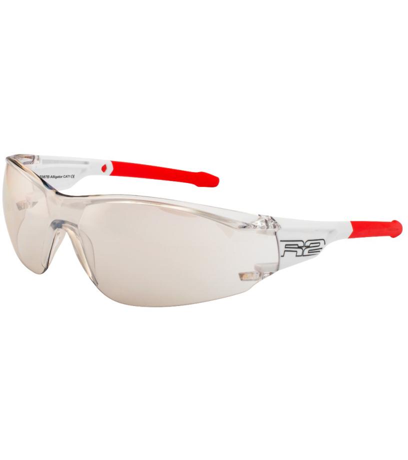 R2 ALLIGATOR Sportovní brýle AT087B bílá