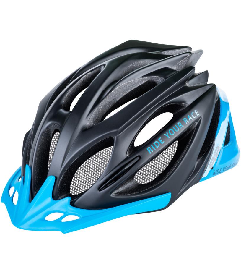 R2 PRO-TEC Cyklistická helma ATH02M černá/tyrkysová M