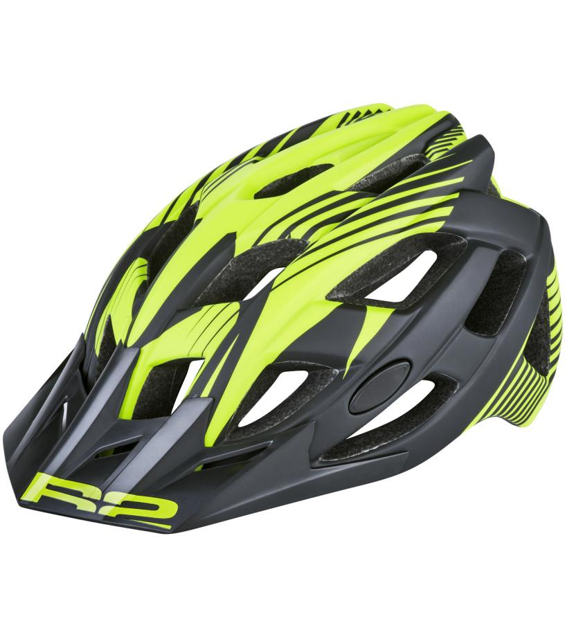R2 ROCK Cyklistická helma ATH11C černo-žlutá M
