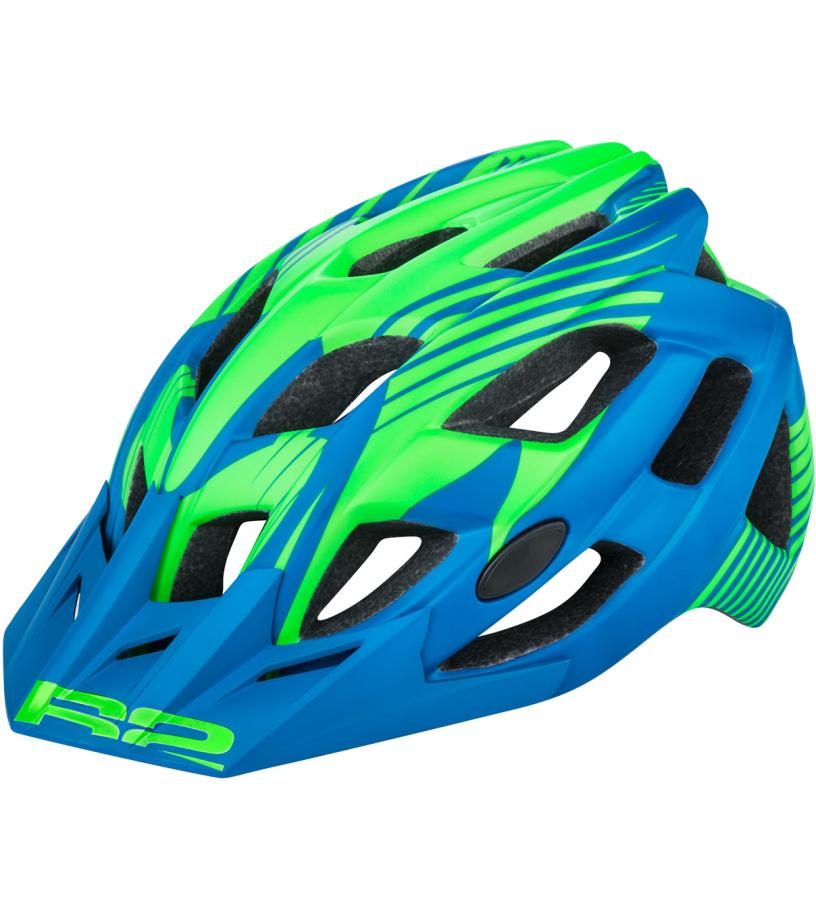 R2 ROCK Cyklistická helma ATH11D tmavě modrá M