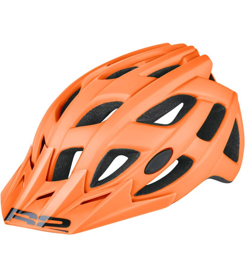 R2 ROCK Cyklistická helma ATH11E oranžová M