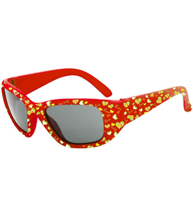 RELAX Jeju Dětské sluneční brýle R3039A červená 36