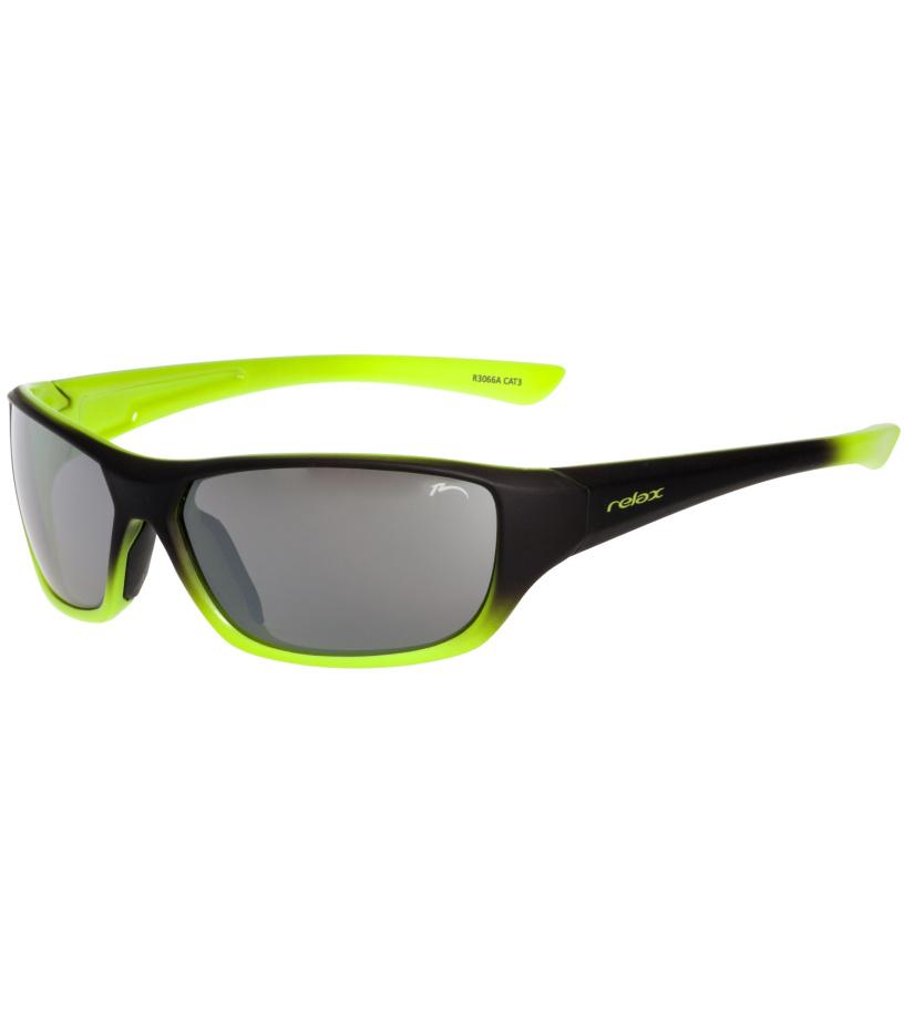 RELAX Mona Dětské sluneční brýle R3066A žluto černá 180 cm