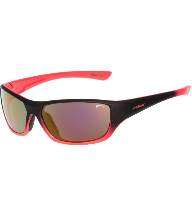 RELAX Mona Dětské sluneční brýle R3066B černo oranžová 180 cm