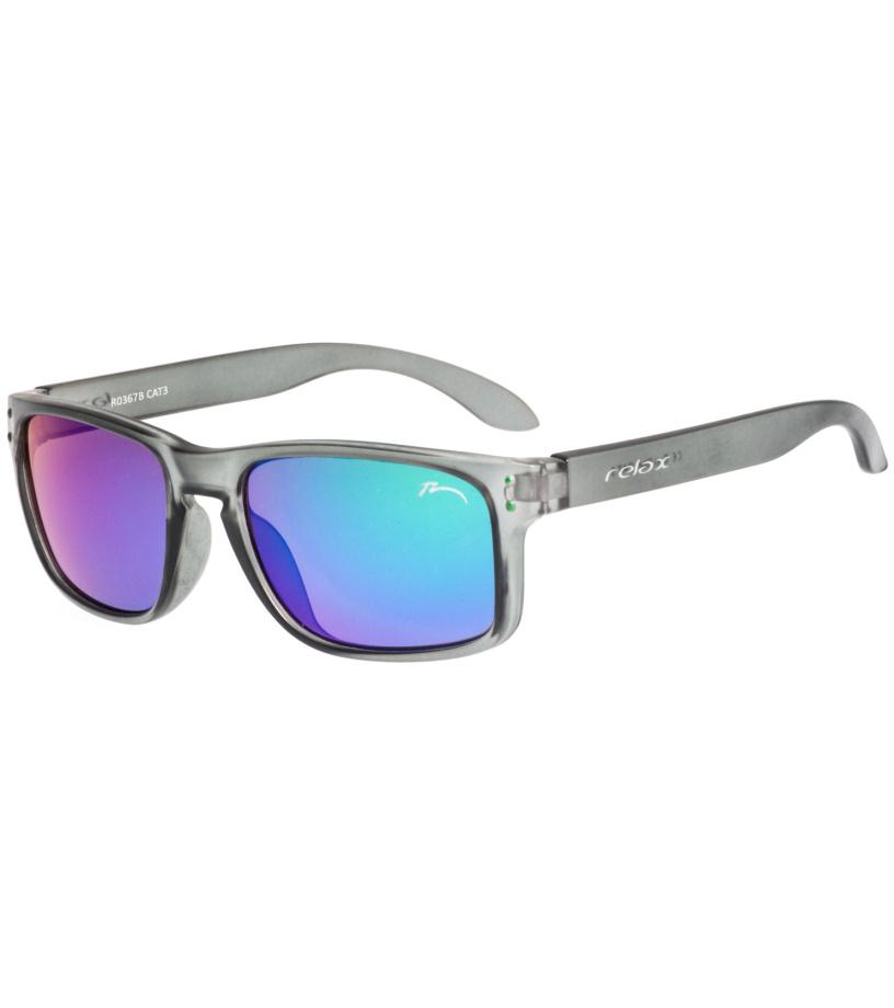 RELAX Melite Dětské sluneční brýle R3067B světlá šedá L