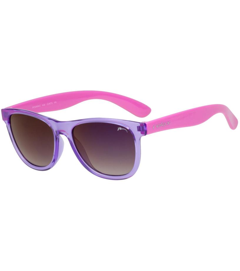 RELAX KILI Dětské sluneční brýle R3069C fialová