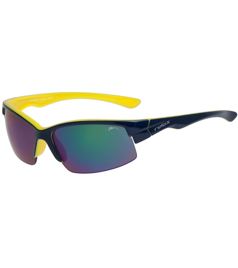 RELAX CANTIN Sportovní sluneční brýle R3073C modrá