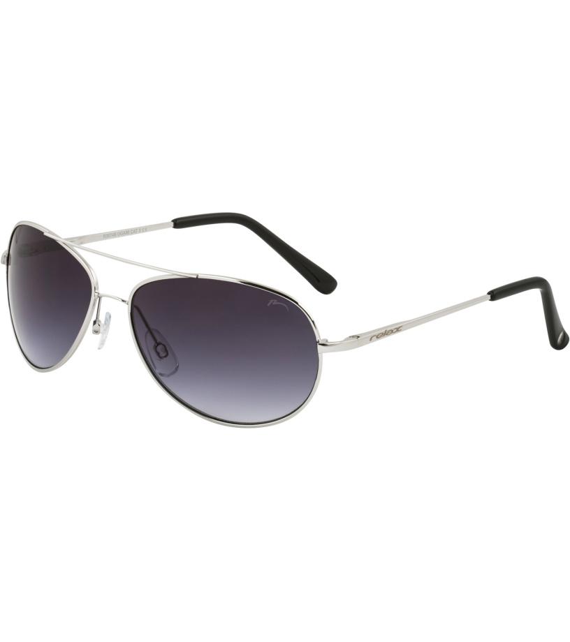RELAX OGAMI Dětské sluneční brýle R3074B stříbrná L