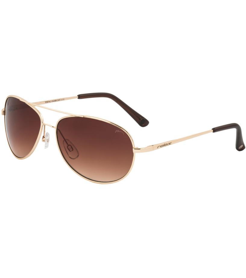 RELAX OGAMI Dětské sluneční brýle R3074C zlatá L