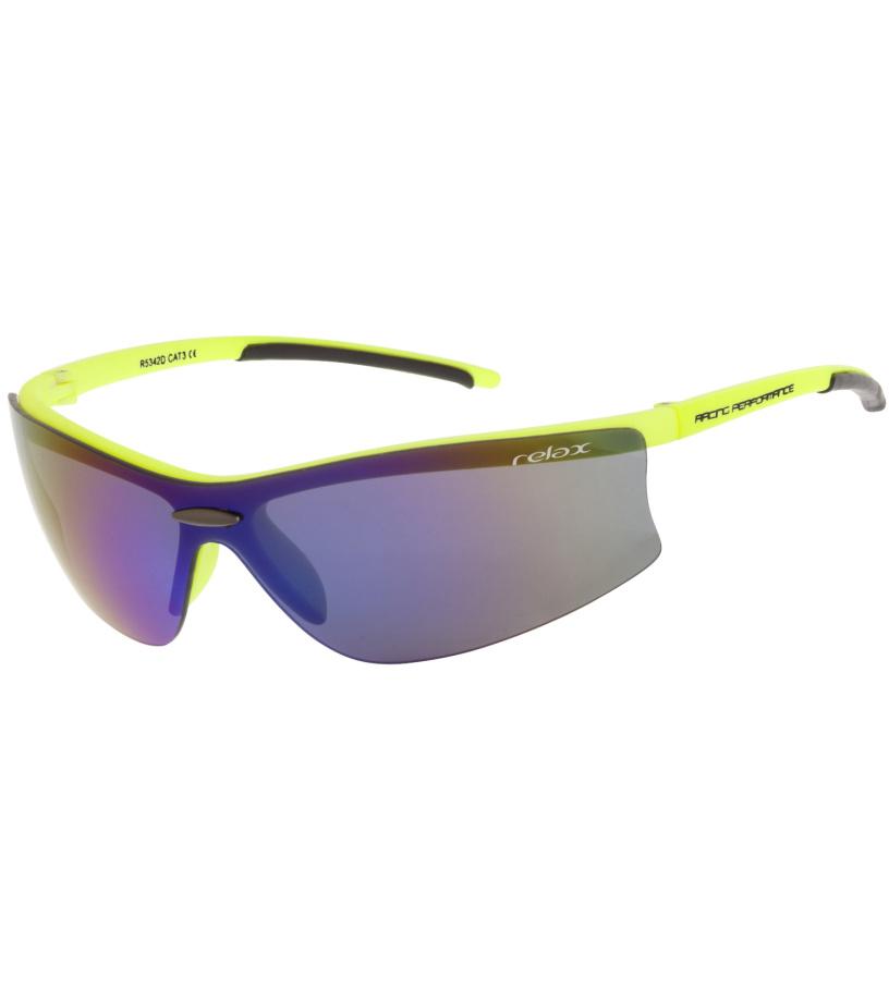 RELAX Poggy Sluneční brýle sportovní R5342D žlutá