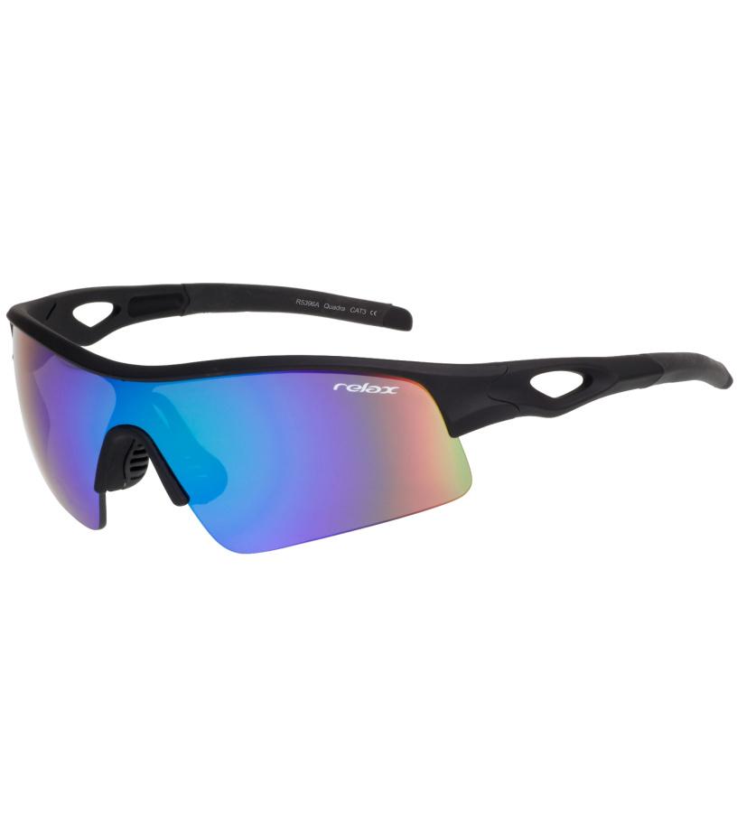 RELAX QUADRA Sportovní sluneční brýle R5396A černá