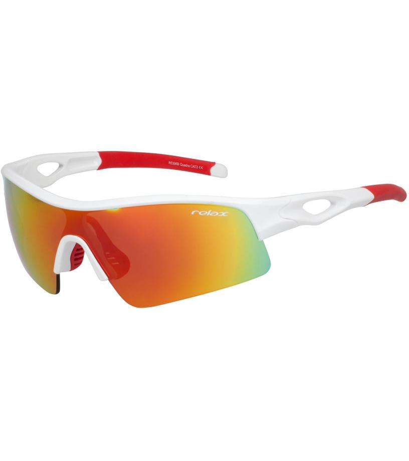 RELAX QUADRA Sportovní sluneční brýle R5396B bílá