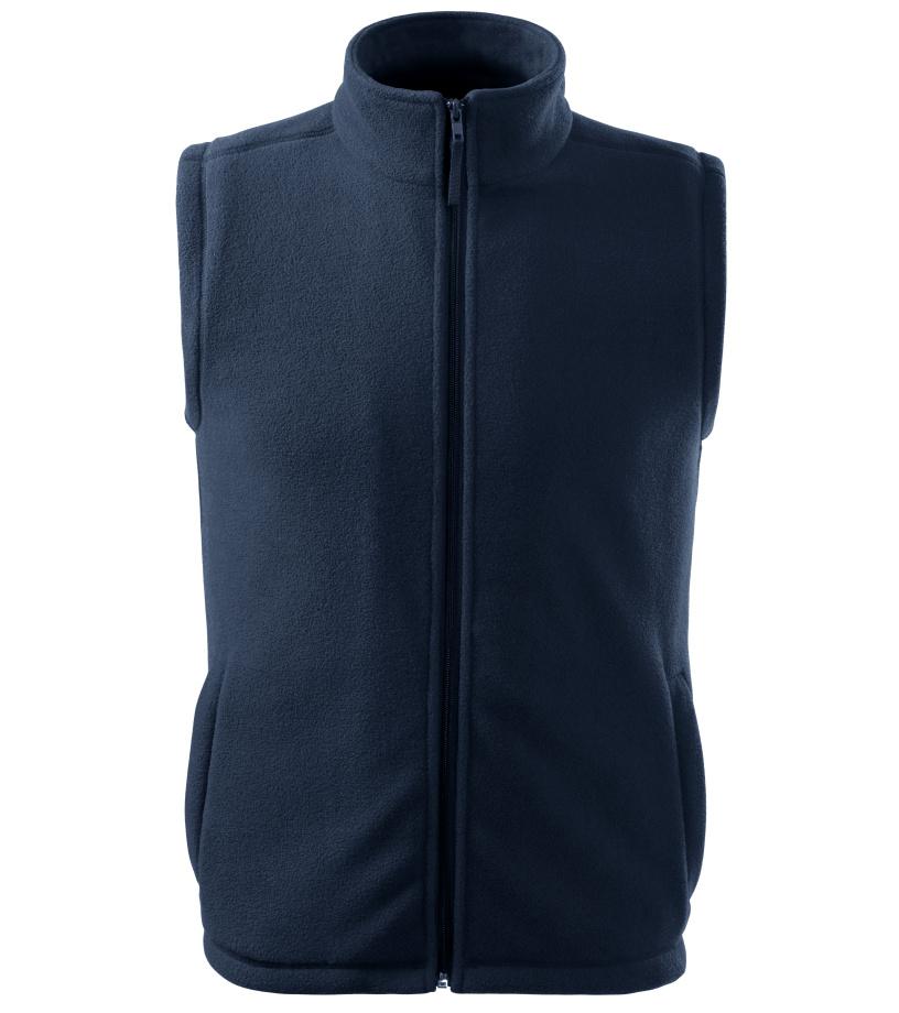 ADLER Next Unisex fleece vesta 51802 námořní modrá S