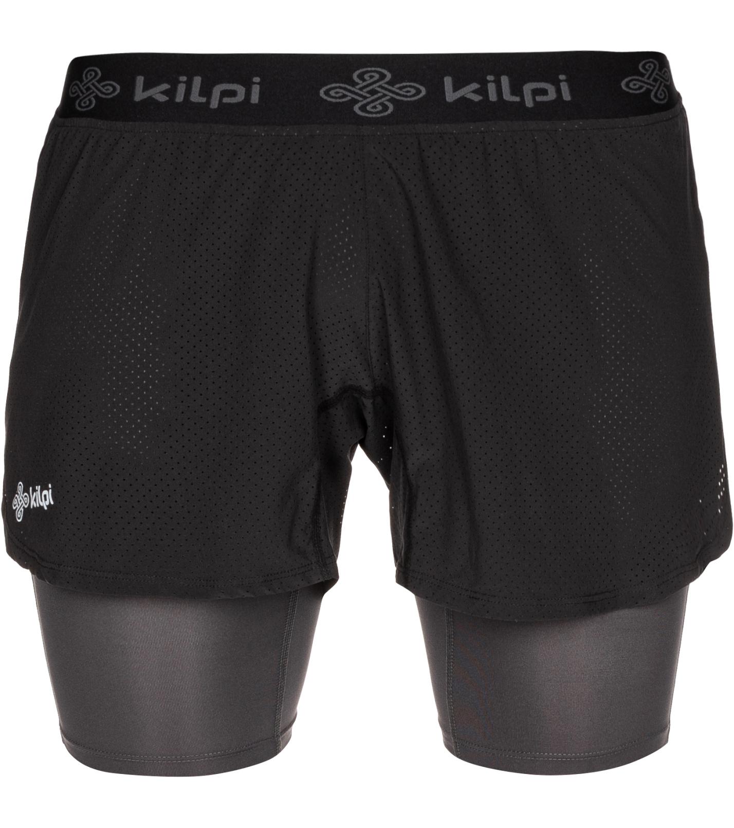 KILPI Pánské běžecké kraťasy IRAZU-M MM0075KIBLK Černá XL