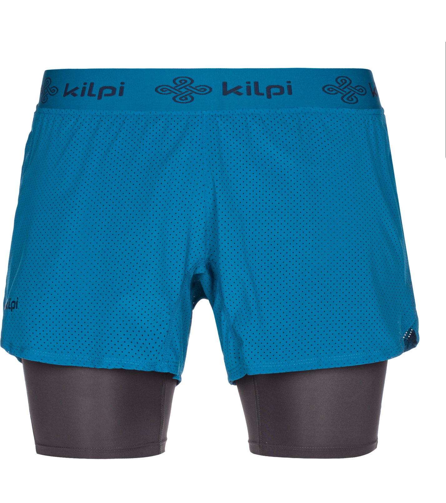 KILPI Pánské běžecké kraťasy IRAZU-M MM0075KIDBL Tmavě modrá L