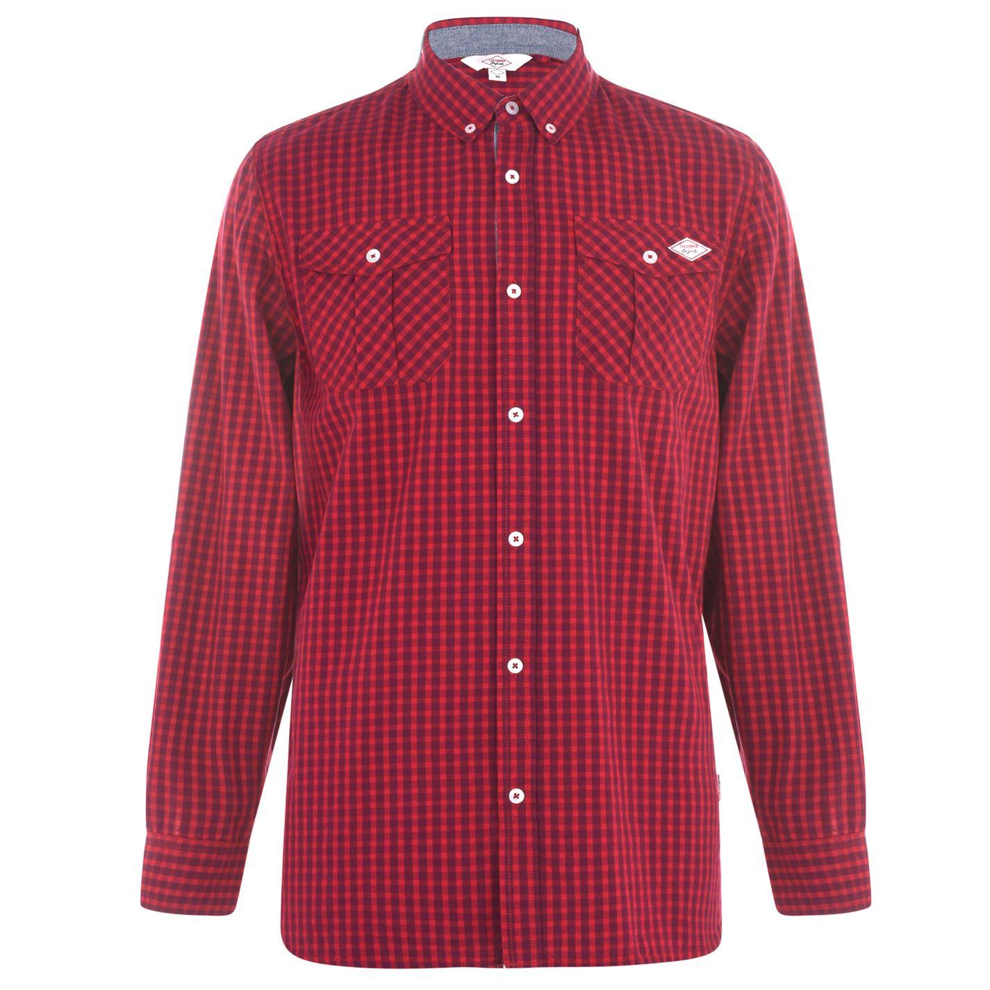 Lee Cooper Long Sleeve Shirt Mens Pánská košile 55883371 SD_Large