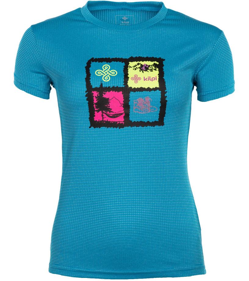 KILPI Dámské funkční tričko GIACINTO-W IL0047KIBLU Modrá 42