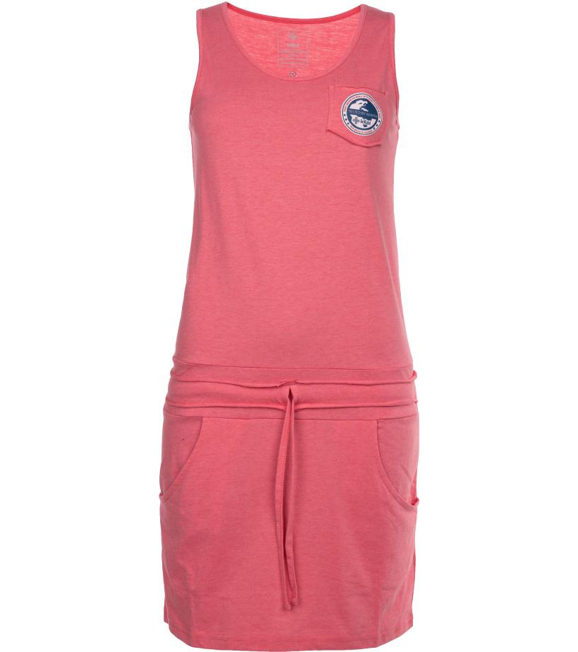 KILPI Dámské bavlněné šaty FANTASIA-W IL0140KIPNK Růžová 38
