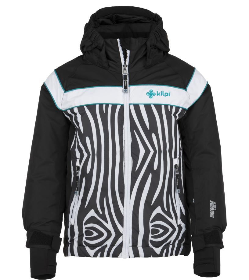 KILPI Dívčí lyžařská bunda DELIS-JG JJ0066KIBLK Černá 146