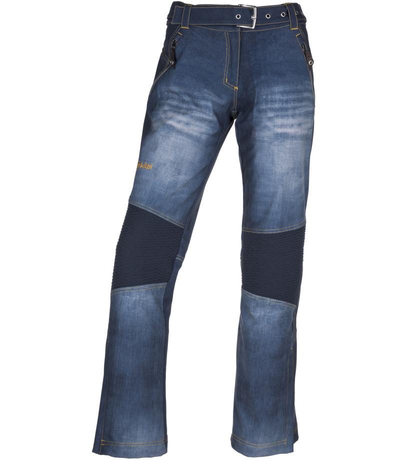 KILPI Dámské softshellové kalhoty JEANSO-W JL0023KIBLU Modrá
