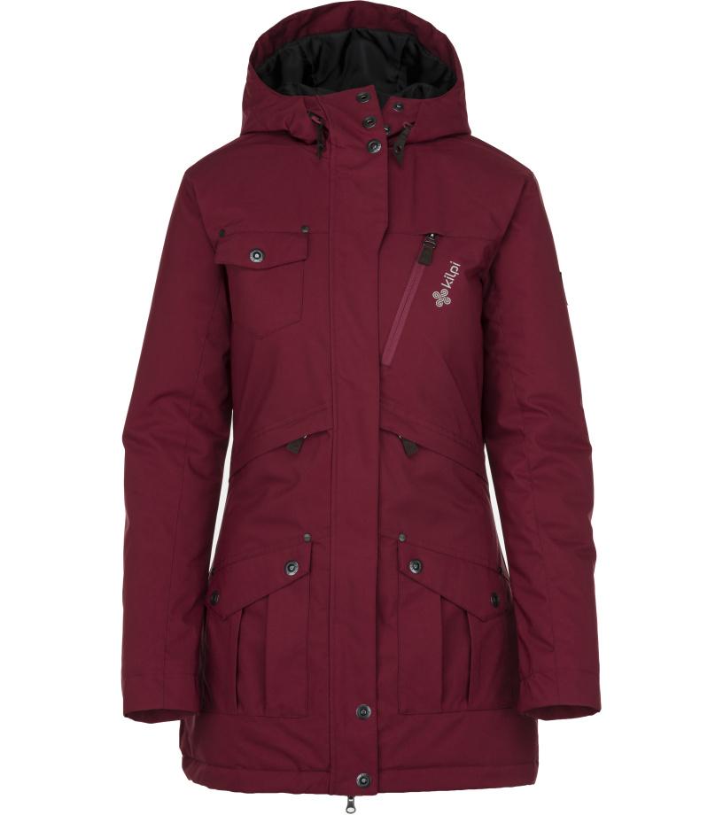 0ba36fc4928 KILPI Dámská zimní kabát BRASIL-W JL0909KIDRD Červená 44